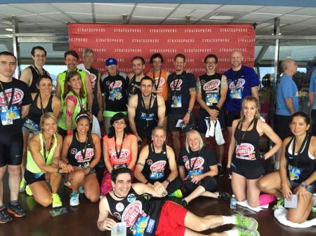 A selection of the West Coast Label athletes who took part in Scale the Strat