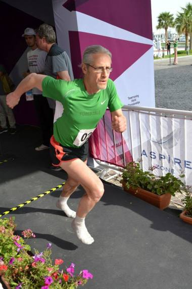 This gentleman was so fast he out ran his own shoes as he powered away from the start line!