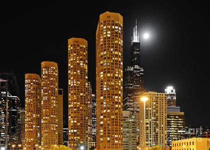 The Presidential Towers buildings in Chicago