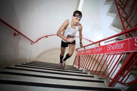 """Showtime"" Lobodzinski tackling the 920 steps of London's Tower 42"