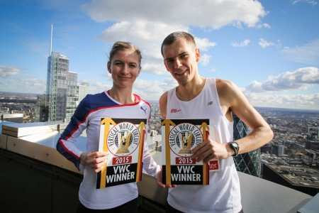The day's winners out on the roof of Tower 42