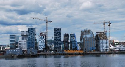 The Barcode Buildings in Oslo