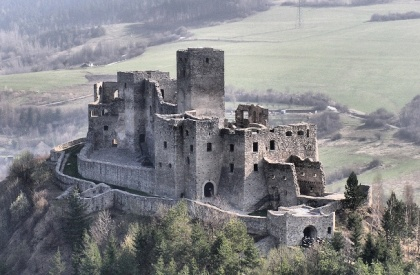 The striking Strecno Castle in Slovakia