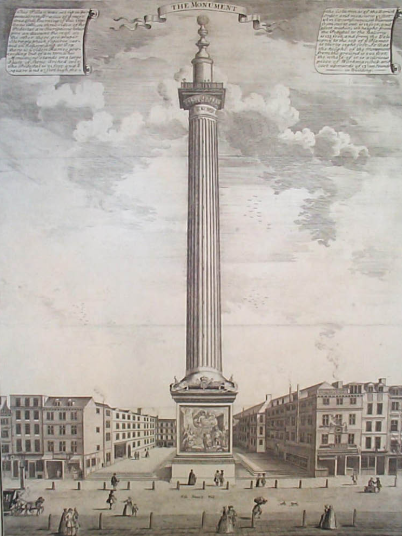 The Monument in 1753