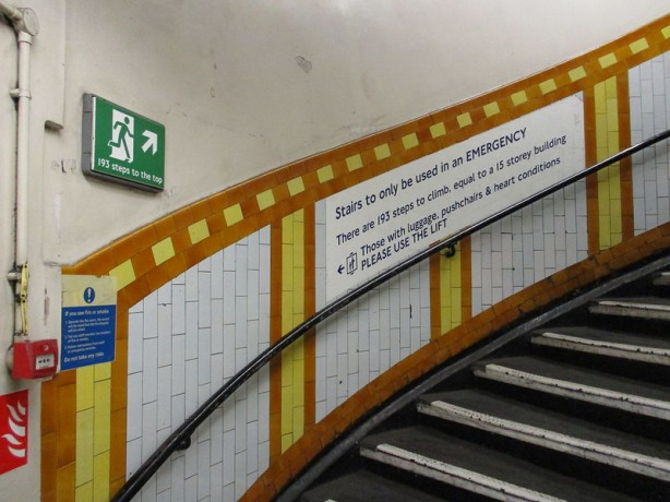 Covent Garden station stairs